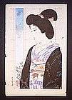 Japanese woodblock print by Ataro of Bijin
