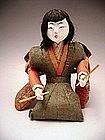 Japanese Late Edo Period Musician Doll