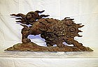 Japanese Edo Period Ranma of Komainu temple dog