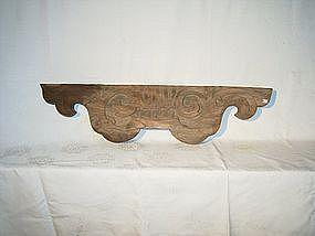 Japanese Edo Period Carved Keyaki Wood Ranma