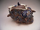 Japanese 19th C. Hirado Turban Top Shell Shaped Vessel