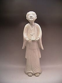 Japanese Late 18th Century White Imari Figure of a Man