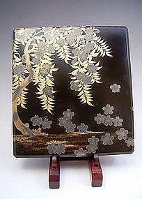 Japanese L. 19th - E. 20th Century Lacquer Suzuribako