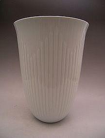 Japanese Large White Celadon Vase by Nakano Taku