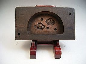 Japanese 20th Century Wooden Mold for Rice-Flour Cakes