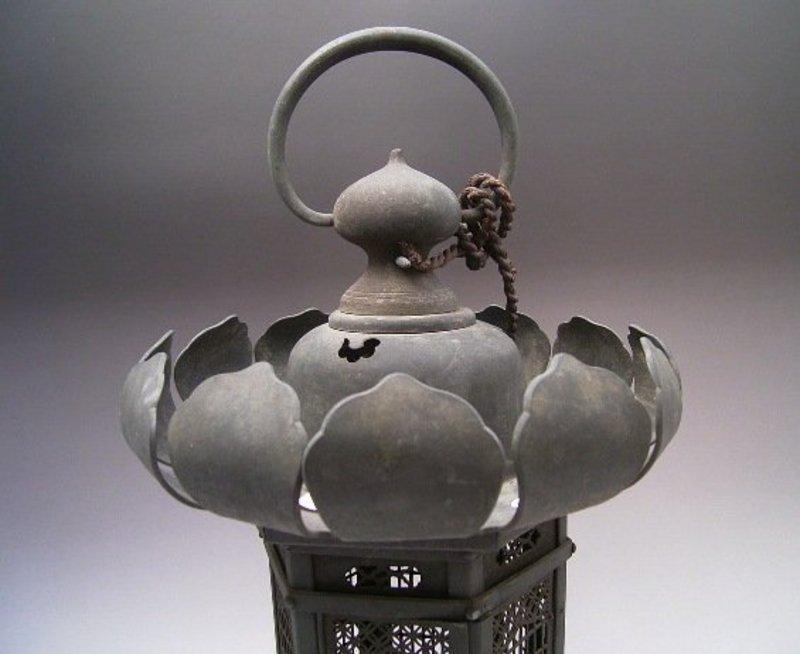 Japanese Circa 1900 Bronze Lantern