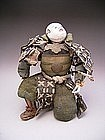 Japanese Early Meiji Period Kneeling Samurai Doll