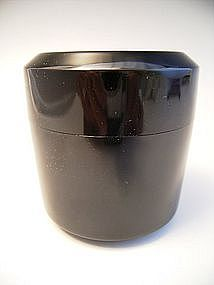 Japanese 20th Century Black Lacquer Tea Caddy
