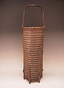 Japanese Circa 1900 Finely Woven Basket by Houchiku