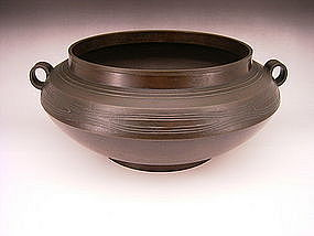 Japanese E-Mid 20th C. Bronze Hori Joshin Vase
