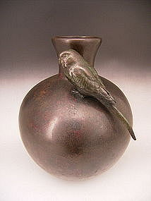 Japanese L. 19 - E. 20th C. Takahashi Ryoun Bronze Vase