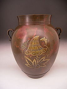 Japanese Early 20th Century Murata Chosen Bronze Vase