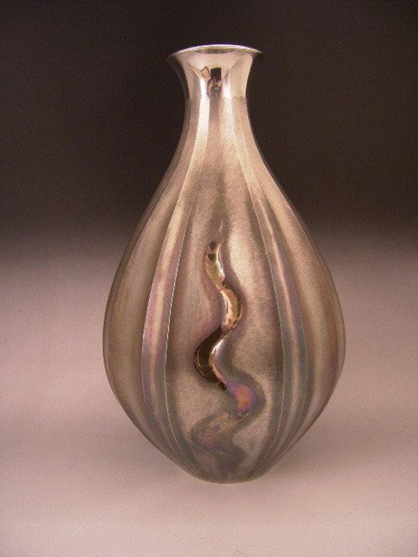 Japan E-Mid 20th C. Silver Vase - STOLEN 10/17/08!