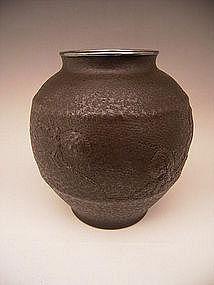 Japanese E. 20th Century Bronze Octopuses Vase