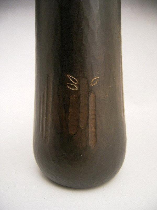 Japanese Mid-Late 20th C Bronze Vase by Ugajin Beiryu