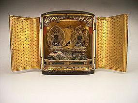 Japanese Late Edo Period Fugen and Monju Bosatsu Zushi