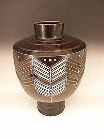 Japanese 20th Century Bronze Vase by Honbo Keisen