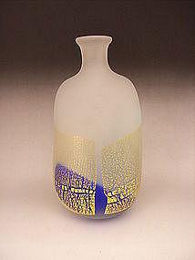 Japanese 20th Century Art Glass Vase by Kyouhei Fujita