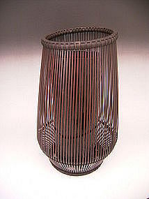 Japanese 20th Century Bamboo basket by Shiotsuki Juran