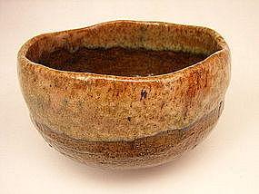 Japanese 20th C. Ohi-Ware Tea Bowl by Ohi Choraku