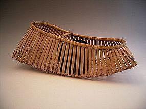 Japanese Bamboo Basket by Suemura Shobun