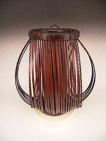 Japanese  20th C. Hanging Basket by Suemura Shobun
