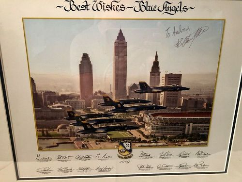 Autographed 2009 Framed Blue Angels Photograph by Peter Carnicelli