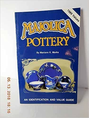 Majolica Pottery An Identification & Value Guide by Mariann Katz Marks