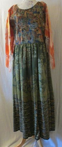 Made In America Textile Art Wear Dress Size Small/Medium