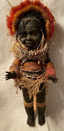 Rare Metti Doll Co Aboriginal Papua New Guinea Native DollC 1969