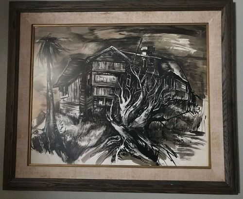 Original Watercolor by Milt Gross (1895-1953)Famous Cartoonist