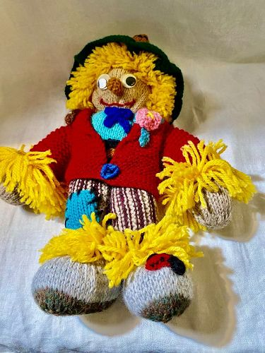 Hand Knit Hand Made Jean Greenhowe's Scarecrow Doll