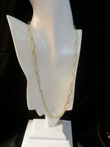 Estate  Jewelry  European 14k /585 Gold Link Necklace