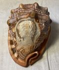Vintage Italian Carved Conch Shell Cameo Souvenir
