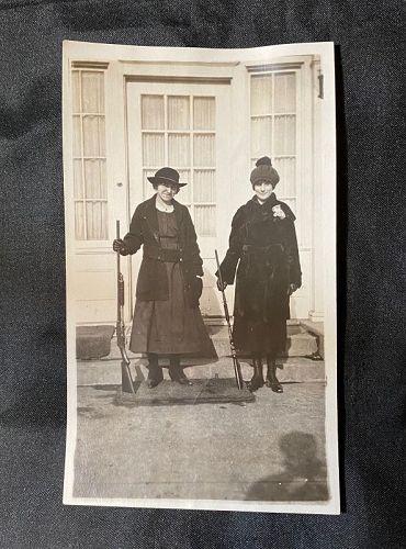 Praire Ladies Dressed up with Rifles Snapshot