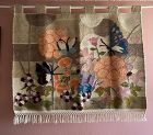 Vintage 20th Century Hand Woven Wool Tapestry Flowers