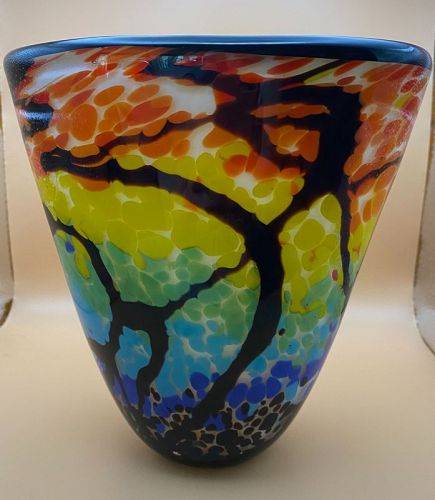 "Contemporary   8"" Badash Art Glass Vase"