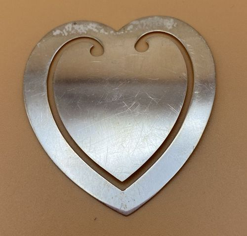 Reed and Barton Sterling Silver  Heart Book Mark