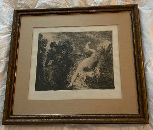 Mariano Fortuny Signed Engraving (1871-1949)