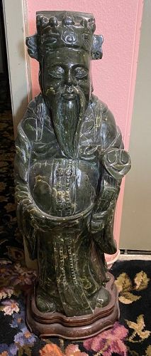 "Contemporary Chinese Nephrite/jade Figure 28"" Tall"
