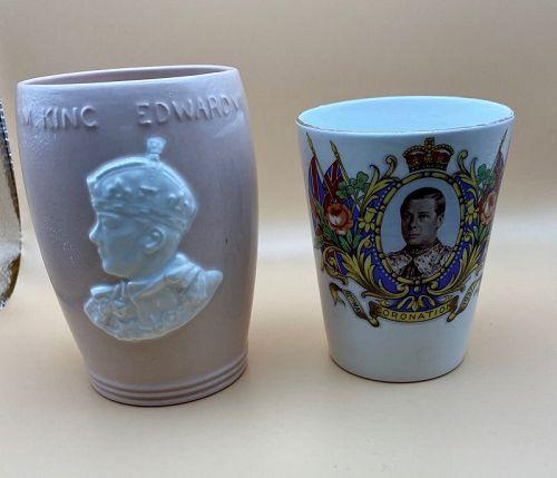 Two Edward VIII Cornation Cups 1937 Wallis Simpson