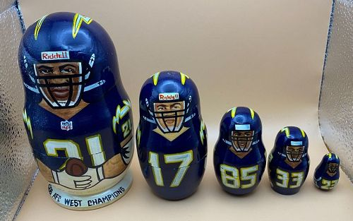 2006 San Diego Chargers AFC West Champions Nesting Dolls Hall of Famer