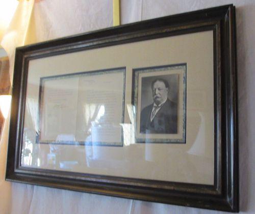 President William Howard Taft Signed Letter