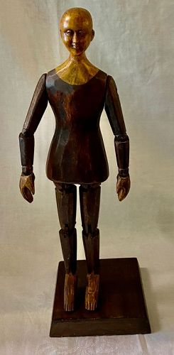 Vintage Wood Artist Model Jointed Figure
