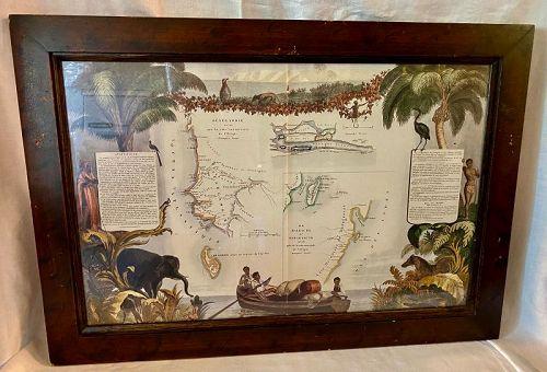 French Senegambie Map Sur La Cote Occidentale de l'Afrique