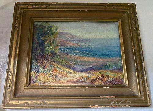 Pearl May Hardy Ransom (1883-1968) California Coast Painting