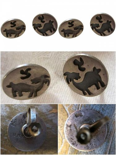Hall Marked Mexican Sterling Earrings