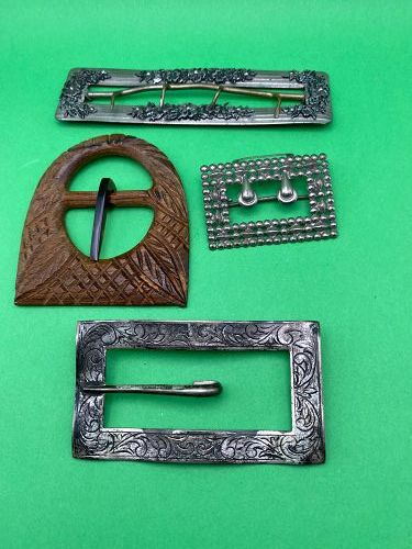 1920's Group Belt Buckles 1920's Mother of Pearl