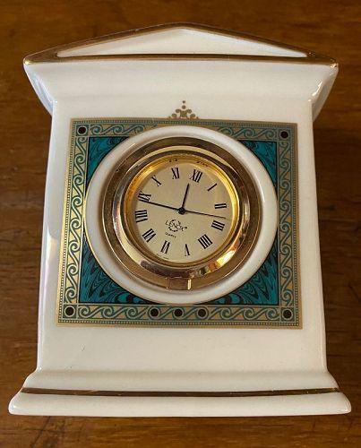 Lenox Classic Mantle Clock No 210926 Bone China, Gold Accent