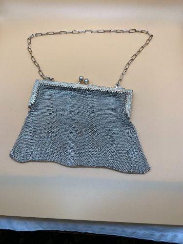 German Silver Evening Purse Bag